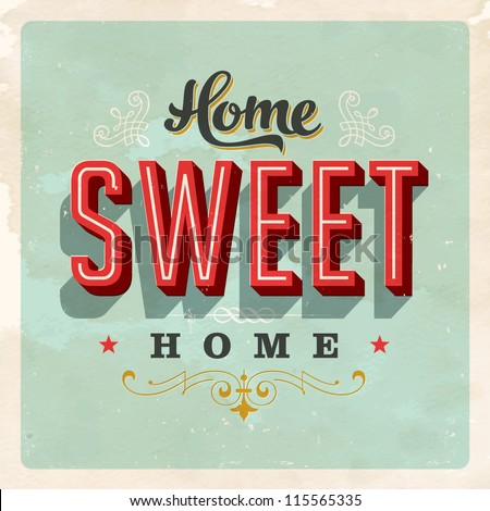 vintage home sweet home sign