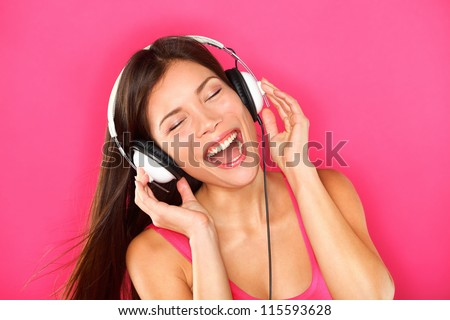 music woman listening to music