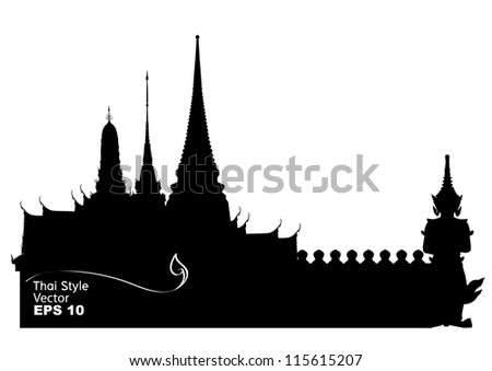 vector illustration of thailand