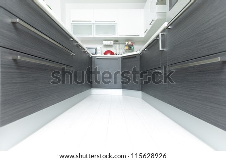 open plan kitchen interior