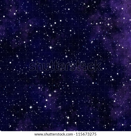 blue nebula sky background