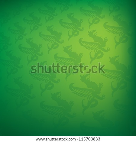 green background with dragon