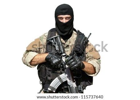 special forces soldier with an