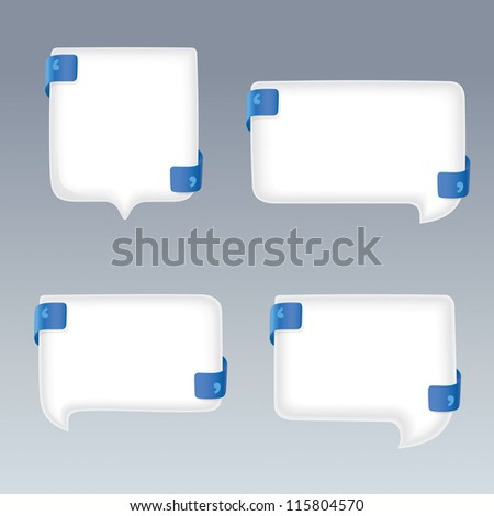 white bubbles with quote marks