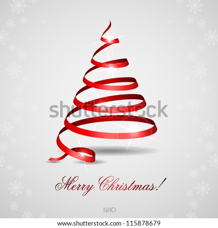 stylized ribbon christmas tree