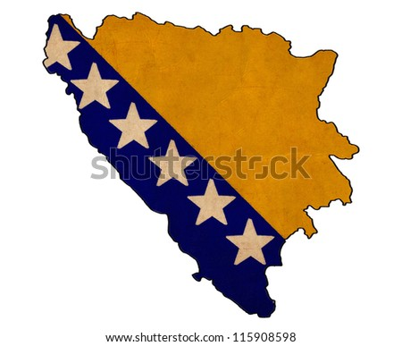 bosnia and herzegovina map on