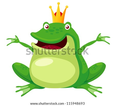 illustration of happy frog