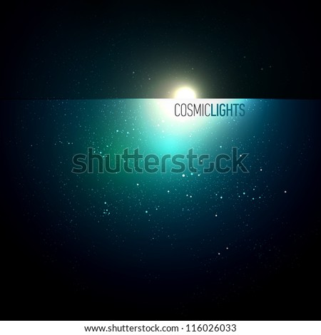 cosmic lights   eps10 vector