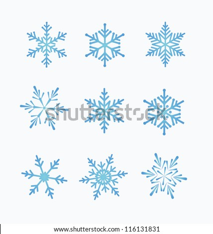 set of snowflakes white   White Snowflake Vector Free Download