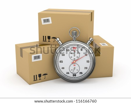 express delivery stopwatch and