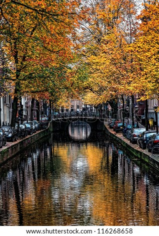 image of a canal in amsterdam