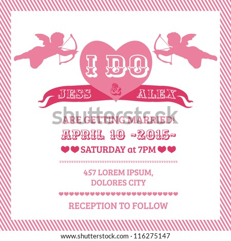 wedding angel invitation card