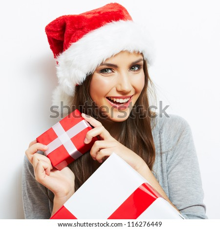 christmas santa hat isolated