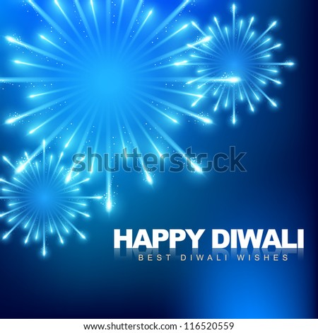 vector happy diwali fireworks