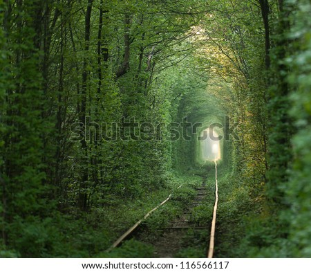 natural tunnel of love formed