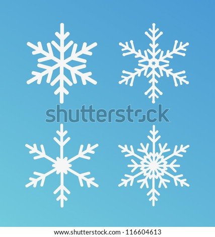 vector snowflakes set for