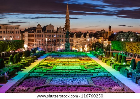 cityscape of brussels from