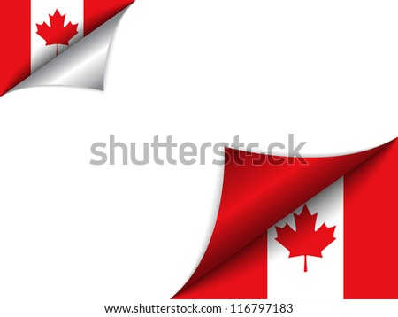 vector   canada country flag