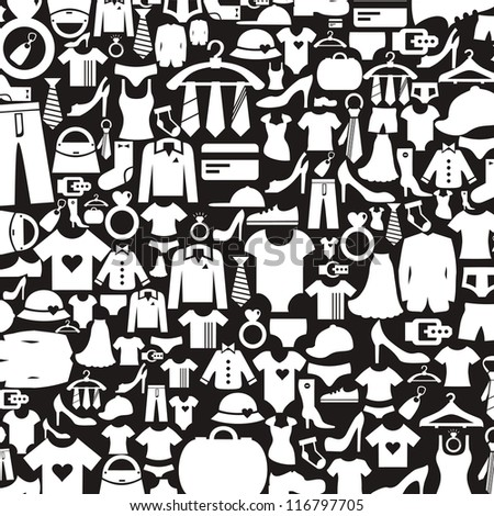 background made of clothes a