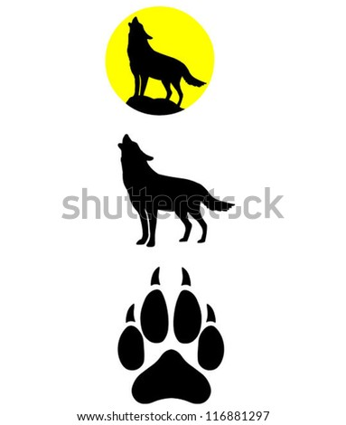 vector selection   wolf howling