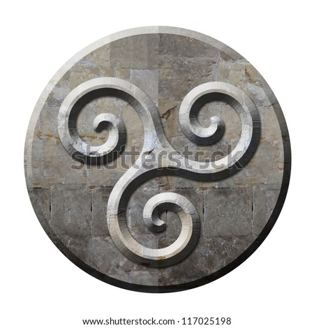 ancient celtic triskele symbol