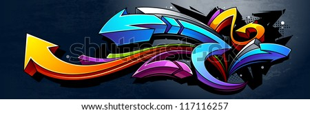 graffiti background horizontal