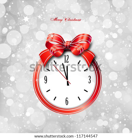 christmas clock with bow