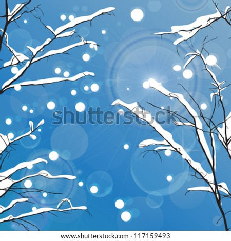 winter vector background with