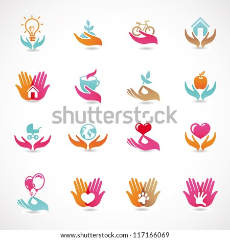 vector set with signs of love