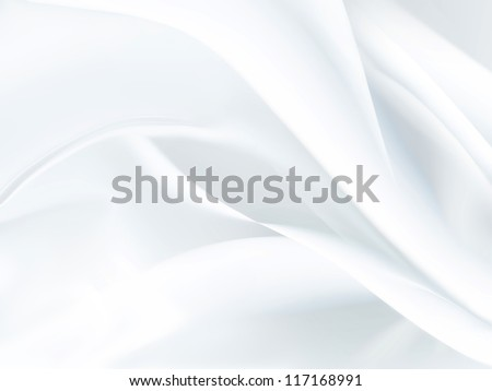 closeup of white satin fabric