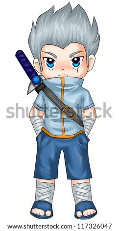 chibi style illustration of a
