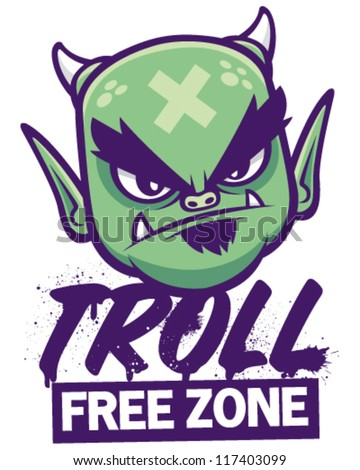 troll free zone vector