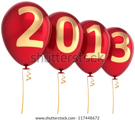2013 new year party balloon