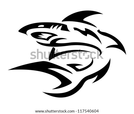 tribal tattoo design   shark