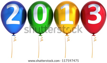 new 2013 year balloons party