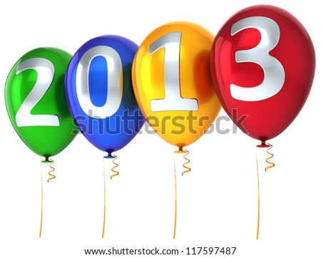 new year 2013 balloons party