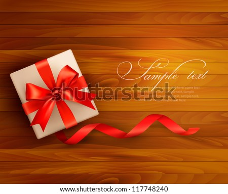 holiday background with gift