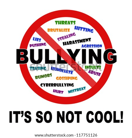 bullying it's so not cool sign