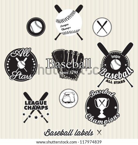 baseball league champs labels