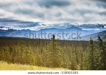 pretty alaskan landscape in