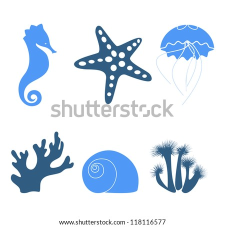 sea objects   design elements