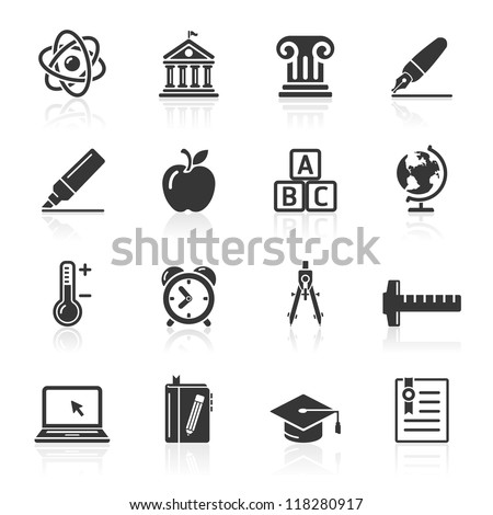 education icons set 2 vector