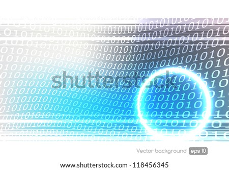 binary code technology vector