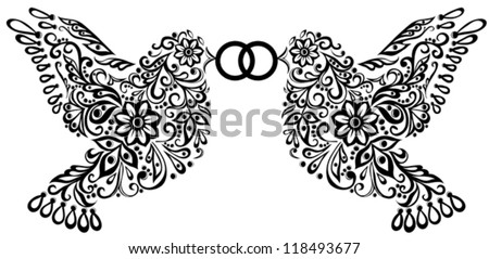 wedding clipart  silhouette of