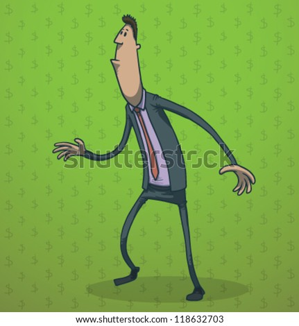 funny businessman 01  vector