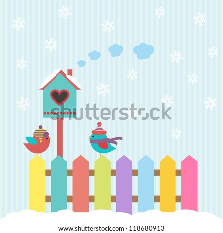 background with birds and