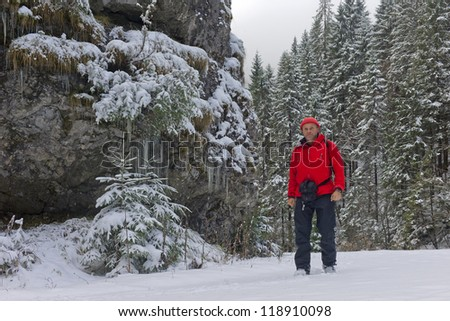 hiker at stratensky kanon