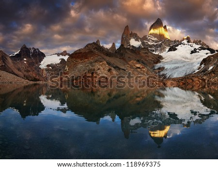 laguna de los tres and mount