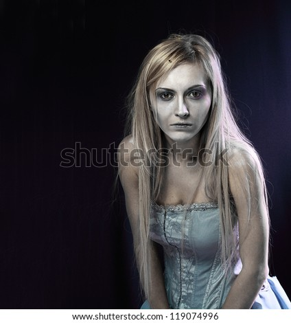 portrait of beautiful zombie