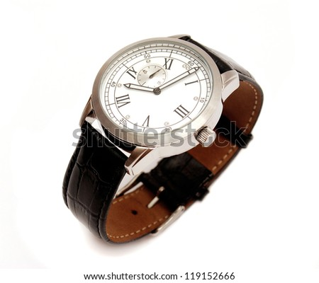 men's mechanical watch isolated